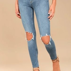 Free People Jeans - Free people busted skinny jeans